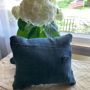 Other - Distressed Denim Throw Pillow